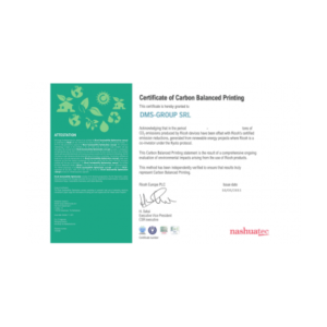 Certificate of Carbon Balanced Printing by Ricoh